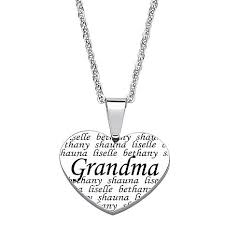 engraved heart necklace everscribe engraved stainless steel heart pendant with