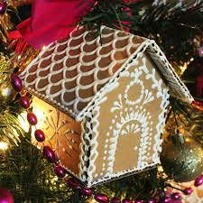montano cardboard gingerbread house ornaments