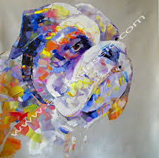 Paint Colorful - modern art paintings colorful palette knife and abstract art
