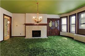 Carpeted Dining Room The Adorable Of Green Shag Carpet Tedx Decors
