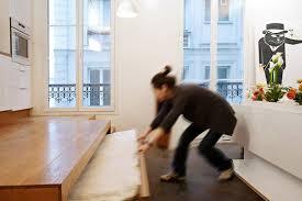 cuisine estrade l estrade de la cuisine renferme également un lit d appoint pour
