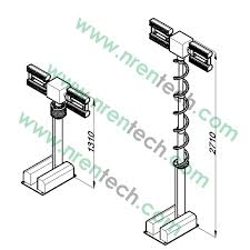 night scan light tower prices 2 5m vehicle roof mount pneumatic telescopic mast lighting tower