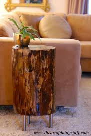 How To Make A Wooden End Table by Stumped How To Make A Tree Stump Table The Art Of Doing Stuffthe