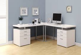 L Shaped Computer Desk With Storage Trendy White L Shaped Computer Desk With Drawers And Solid Legs