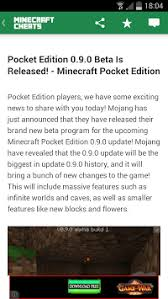minecraft pocket edition apk 0 9 0 cheats for minecraft apk apkname
