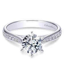 channel engagement ring tapered channel set engagement ring freedman jewelers freedman