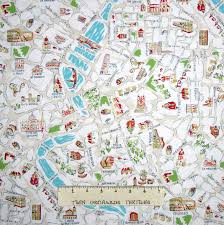 Map Rome Italy by Travel Fabric Italy Rome City Map Landmarks Beige Dear Stella