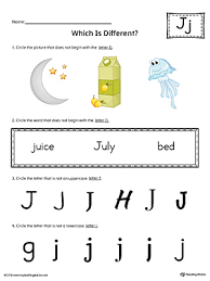 letter j which is different worksheet color myteachingstation com