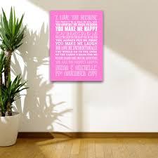 text wall art shenra com i love you because personalised wall art canvas wall art print