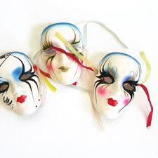 ceramic mardi gras masks shop vintage mardi gras masks on wanelo