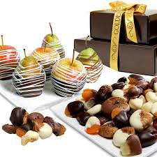 chocolate covered fruit baskets chocolate covered company chocolate dipped apples pears