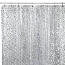 Bed Bath And Beyond Shower Curtain Liners Pebbles Shower Curtain In Clear Vinyl Shower Curtains Bath And