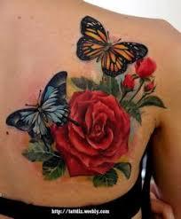 beautiful butterfly on lower back ideas