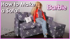 how to make a barbie sofa easy kids craft youtube