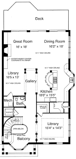 second empire floor plans house plans for the narrow lot by studer residential designs
