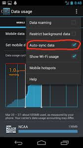 android master sync resolved not synchronisation in background