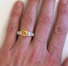 citrine engagement rings citrine ring in 14k white gold gr 2045