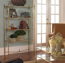 horchow gold iron open mirrored glass henzler etagere bookcase