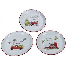 christmas plates enamel farmhouse christmas plate set of 3 a cottage in the city