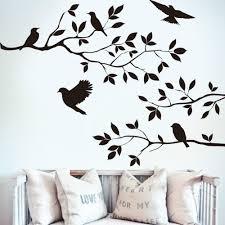 u0026 3d animal bird tree branch vinyl cut wall stickers bedroom