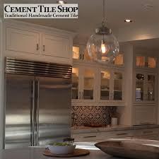 Cement Tile Backsplash by Bordeaux Pattern Cement Tile Shop Blog