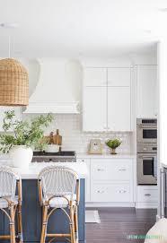 white shaker kitchen cabinets with white subway tile backsplash coastal kitchen reveal on virginia
