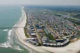 Myrtle Beach Senior Week House Rentals Aerial View Of The Cherry Grove Beach Section Of North Myrtle