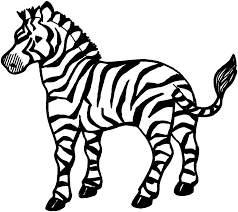 free printable zebra coloring pages kids