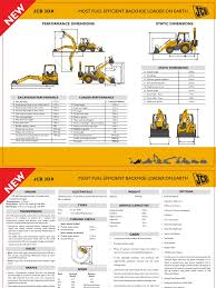jcb 3dx specifications sheet loader equipment transmission