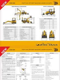 jcb 3dx specifications sheet loader equipment transmission
