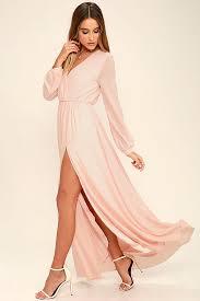 pink dress lulus wondrous water lilies blush pink maxi dress blush pink dress