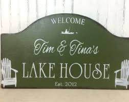 Lakeside Home Decor Cabin Sign Etsy