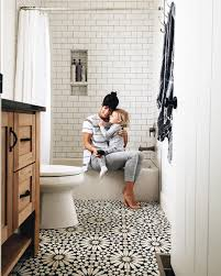Small Black And White Tile Bathroom A House With A Cool Design White Subway Tiles Subway Tiles And