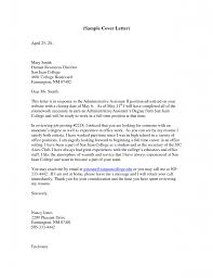 cover letter cover letter examples administrative cover letter