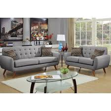 Sofas And Loveseats Sets by Bobkona Sonya Linen Like Polyfabric 2 Piece Sofa And Loveseat Set