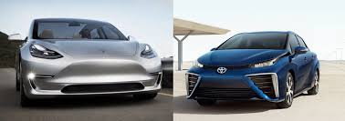 tesla electric car toyota cut its last tie with tesla as it launched its own electric