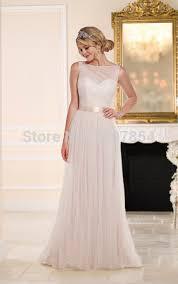 plain white wedding dresses plain simple white chiffon wedding dress backless pleat