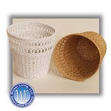 wicker waste paper basket bathroom waste basket