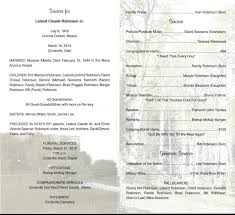 Images Of Funeral Programs Leland Claude Robinson Jr Funeral Program Las Colonias The