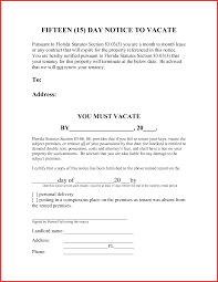 30 day letter to vacate objective to resume