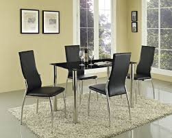 Dining Table With 4 Chairs Price Fancy Black Glass Dining Room Table And Chairs 68 In Patio Dining