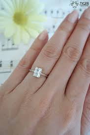 emerald cut engagement rings 2 carat 1 carat emerald shape radiant cut engagement ring made