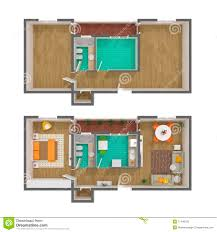 3d floor plan top view royalty free stock photo image 17440125