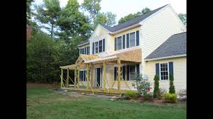 Colonial House With Farmers Porch Colonial Porch Construction Youtube