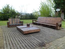 Patio Furniture Made Out Of Pallets by Giant Outdoor Set Made Out Of Repurposed Pallets U2022 1001 Pallets