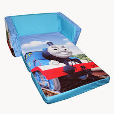 loveseat pull out bed for kids with train cartoon print decofurnish