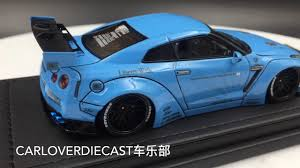 nissan gtr model car ignition model nissan lb works gt r r35 light blue resin scale 1