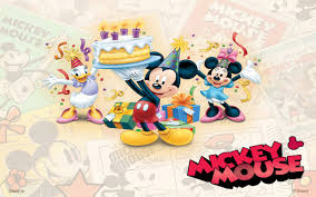 mickey mouse and friends birthday wallpaper hd wallpapers13 com