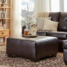 Leather Ottomans Coffee Tables by Leather Ottoman Coffee Table Visualizeus