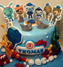octonauts cake toppers personalised handmade octonauts cake topper icing decoration